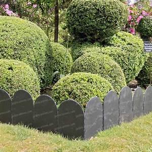 Bordure De Jardin : bordure ardoise arrondie 20x30cm lot de 5 1m lin aire ~ Melissatoandfro.com Idées de Décoration