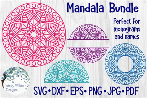 huge mandala bundle  designs sofontsy