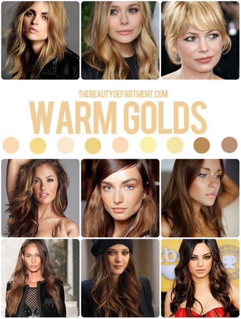 hair color for warm skin tone tbdwarmgolds