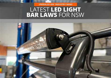 led light bar laws for nsw unsealed 4x4