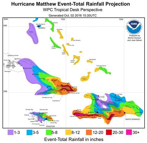 filehurricane matthew october   rainfall forecast