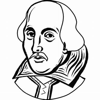 Shakespeare Coloring William Drawing Portrait Colouring Colorful