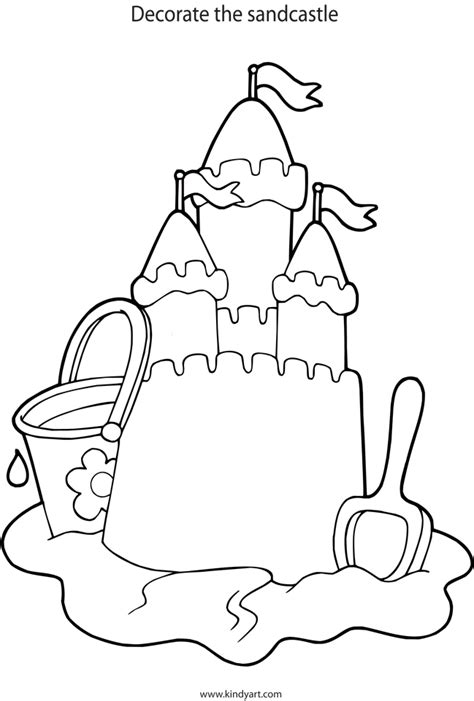 Coloring Sand by Sandcastle Coloring Page Coloring Home