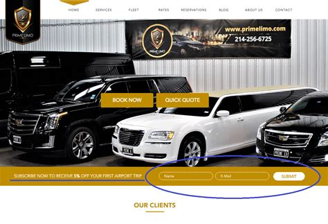 Discount Limo Service by New Customer Discount Available Prime Limo Car