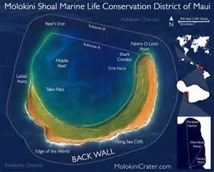 Molokini Crater Maui Hawaii Map