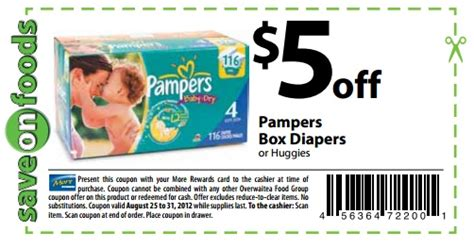 pampers coupons printable coupons