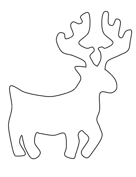 Reindeer Template by Reindeer Outline Template Sketch Coloring Page