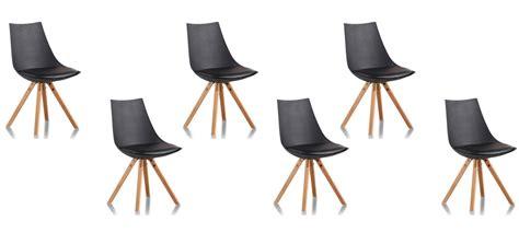 lot 6 chaises noires lot de 6 chaises design garantie 2 ans satisfait ou