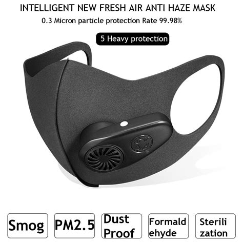 smart electric face mask air purifying kn anti dust