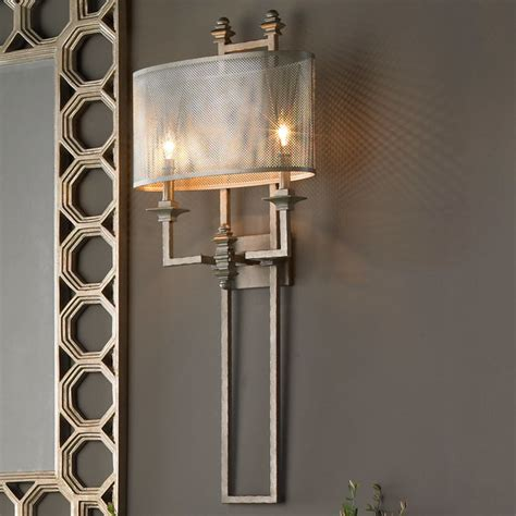 big wall sconces mesh screen metal sconce shades of light