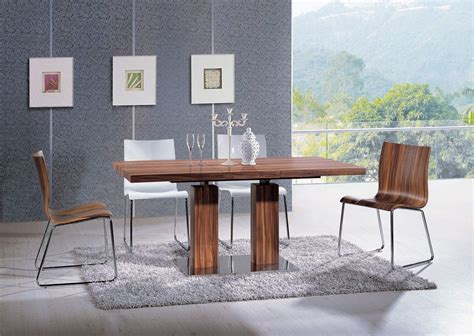 contemporary kitchen table extendable rectangular wooden italian 5 kitchen set 2518