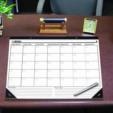 desk pad calendar artistic office products artistic 50020 17 quot x 22
