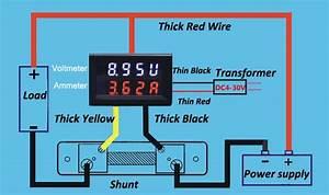 Doppio Digitale Led Pannello Voltometro Amperometro