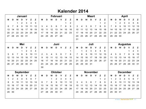jaarkalender calendar template site
