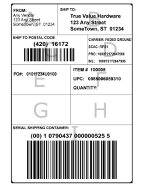 GS1-128 Shipping Labels - Free Information from Bar Code