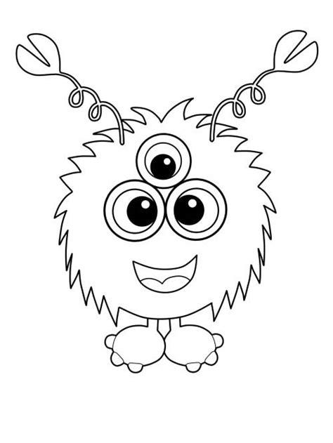 kostenlose malvorlage halloween dreiaeugiges monster mit