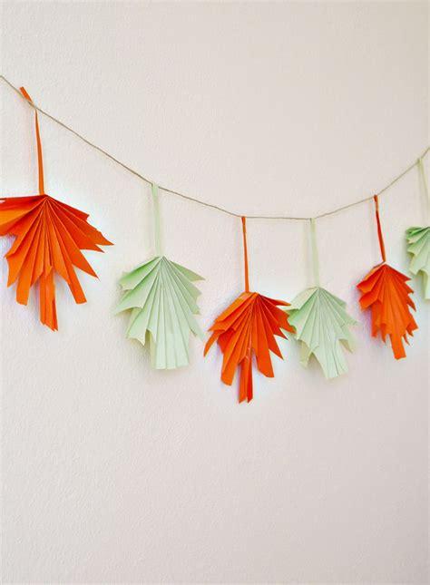 folded paper leaf garland   takes