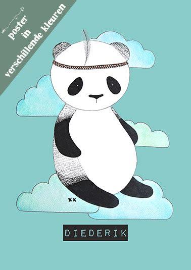 Poster Panda Babykamer by Posters Kinderkamer Originele Geboortekaartjes En