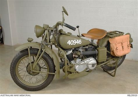 Indian 741b Solo Motorcycle Used In Australian Military