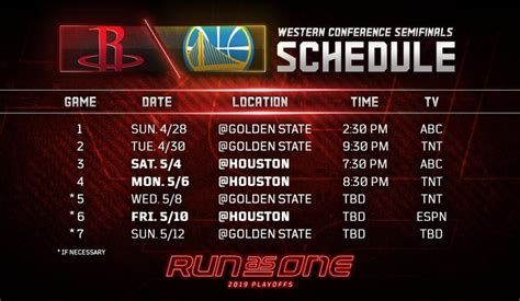 nba playoffs western conference semifinals schedule released