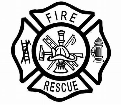 Maltese Fire Cross Rescue Firefighter Dept Vinyl