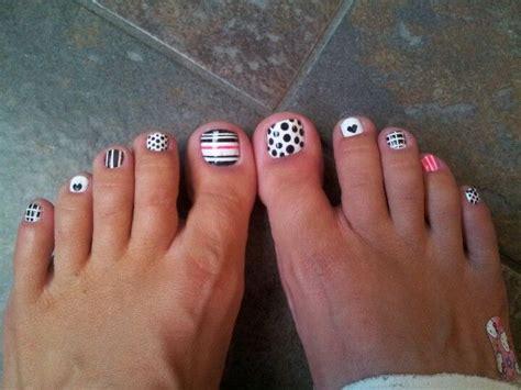 black  white pedicure manicurespedicures pinterest