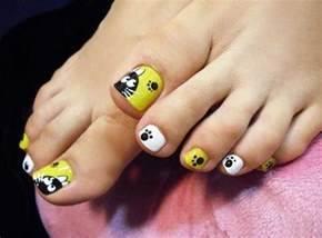 Cute toe nail art designs