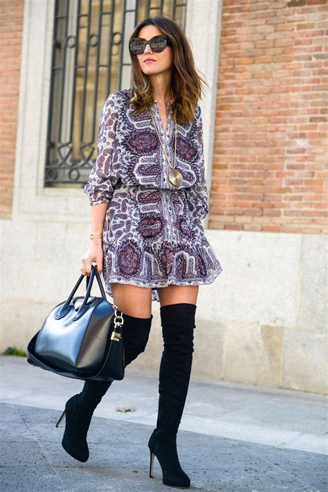 thigh high boots outfit  ways  wear thigh high