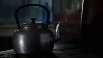 Kettle Pot Tea Boils Never Watched Morning