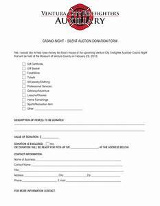 silent auction donation form template pictures With sample donation letter for silent auction items