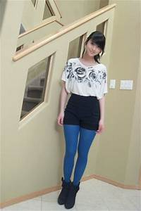 White Tops Black Boots Blue Joe Fresh Style Tights Black Shorts | u0026quot;Bold as love.u0026quot; by ...