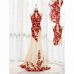 red lace prom dresses, mermaid prom dress, chiffon prom ...