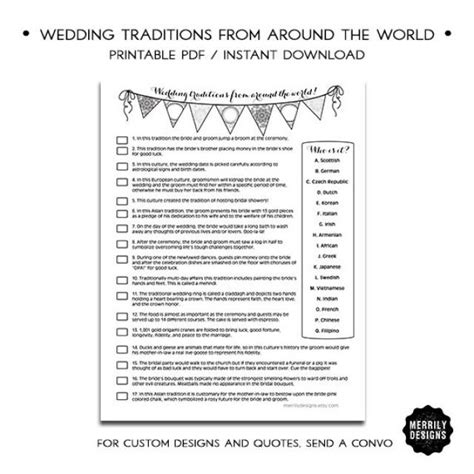 shower wedding traditions from around the world