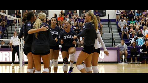 tcu volleyball  big  season begins youtube