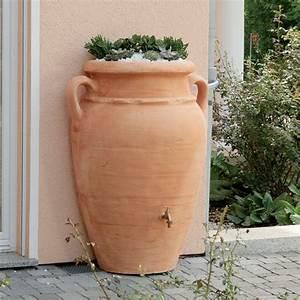 Recupérateur Eau De Pluie : r cup rateur d 39 eau mural amphore antik 260 litres ~ Premium-room.com Idées de Décoration