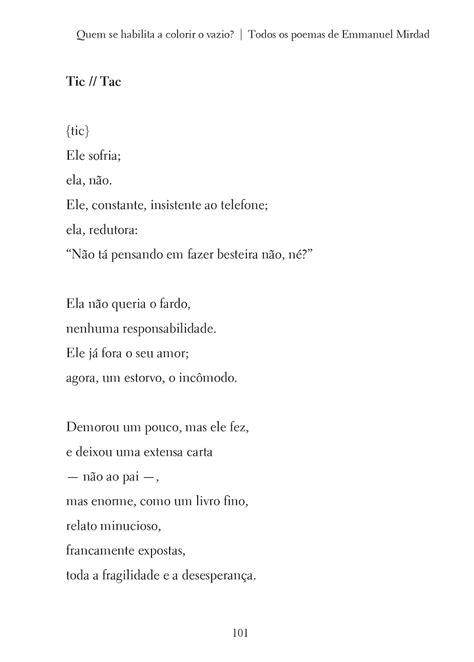 """Poema """"Tic // Tac"""", de Emmanuel Mirdad"""