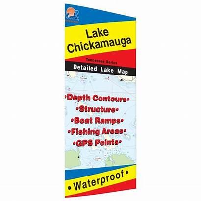 Tennessee Fishing Lake Spots Chickamauga Map
