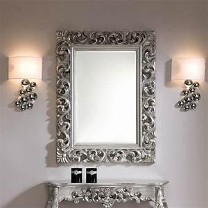 Miroir Deco Salon : miroir mural rectangulaire argente dino zd1 mir d ~ Melissatoandfro.com Idées de Décoration