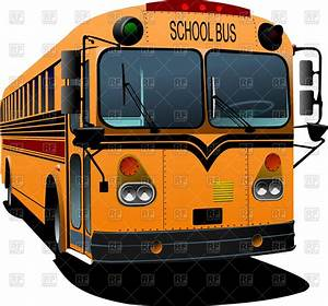 Yellow school bus - front view Vector Clipart Image #61954 ...