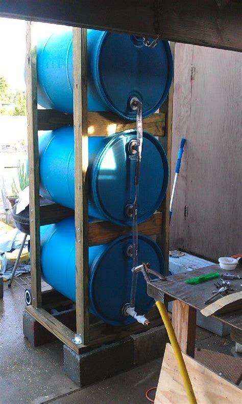 build   drum rain collection system   pictures