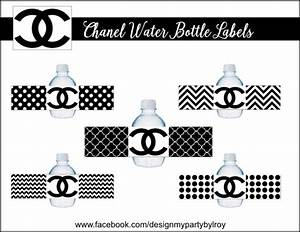 chanel water bottle labels chanel chanel party favors by With chanel water bottle labels