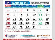 Kalender Januari 2019 Cetak Kalender 2019 harga Murah