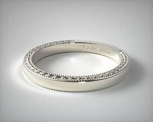 Etched Rope Wedding Band 14K White Gold James Allen