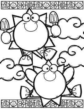 summer coloring pages free made by creative clipart tpt