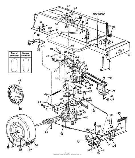 mtd af  parts diagram  drive rear