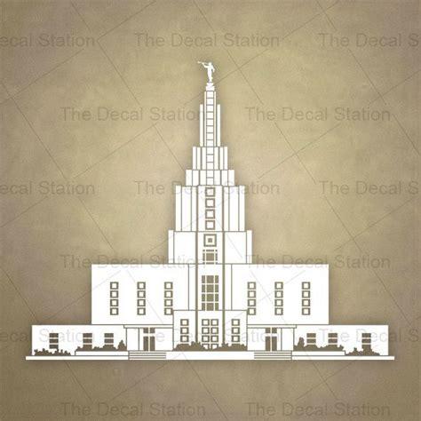 lds temple decal idaho falls vinyl sticker home