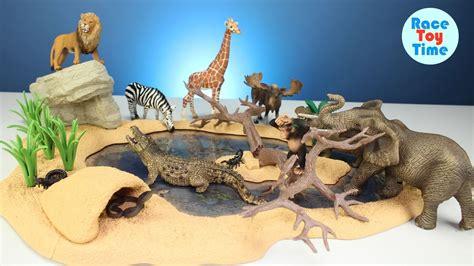 safari zoo wild animals toys schleich toys collection