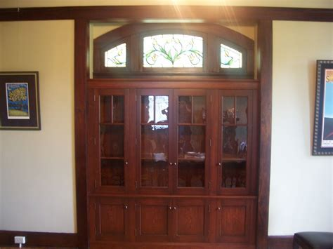 Custom Built In China Cabinet by Cibolo Valley Furniture