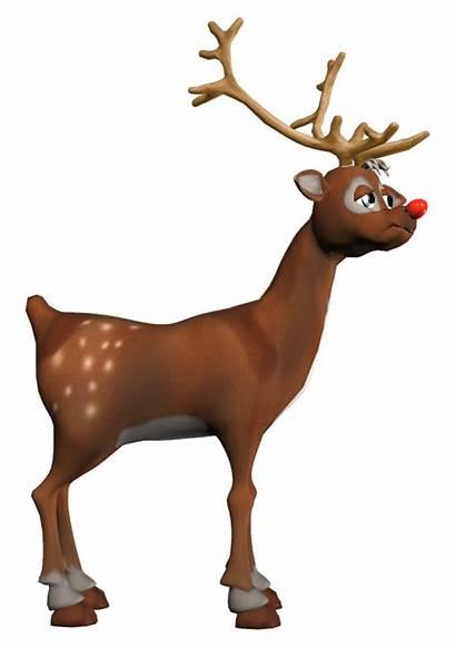 Rudolf Clipart Reindeer Deer Cartoon Noel Transparent