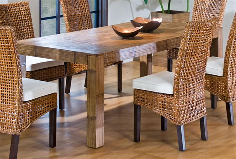 dining table indoor wicker dining table
